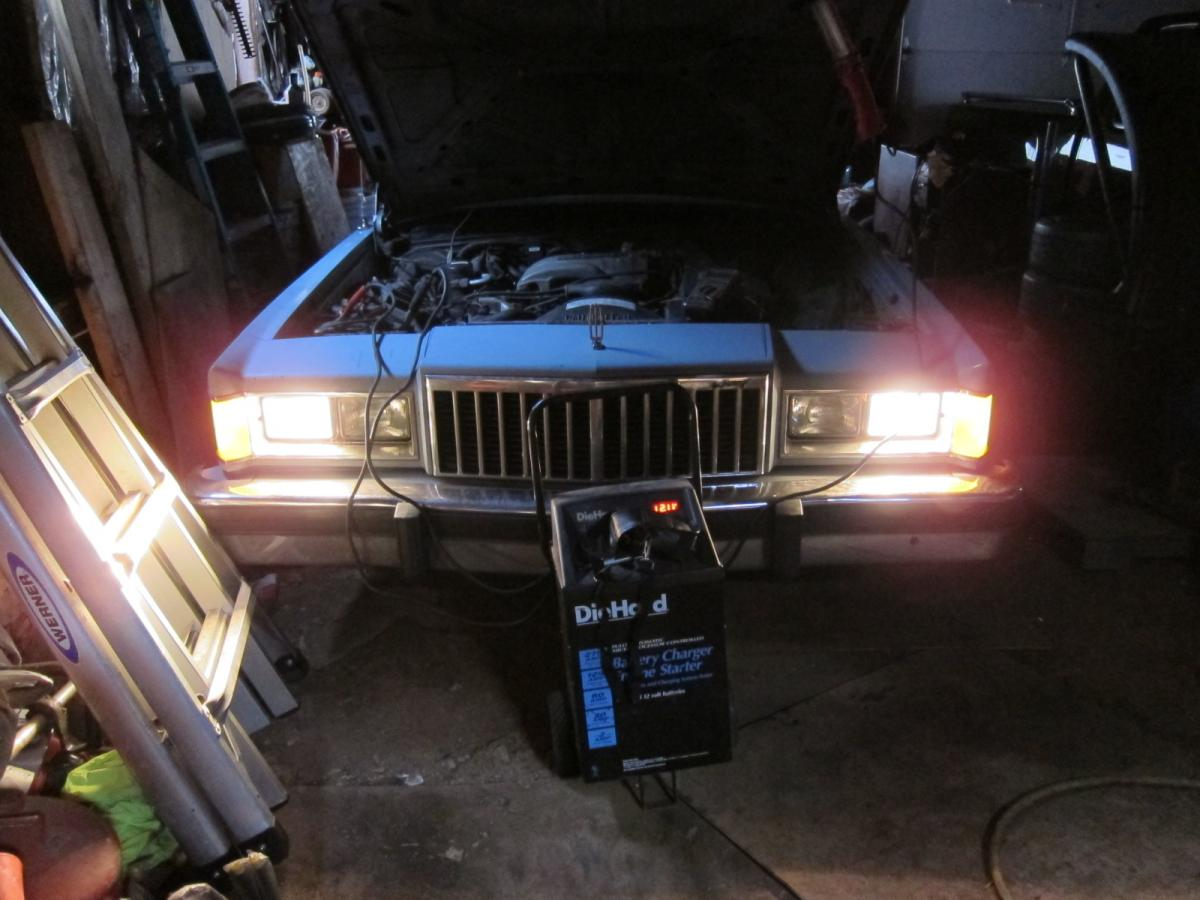 Marquis headlights, HID install  - BEFORE.JPG