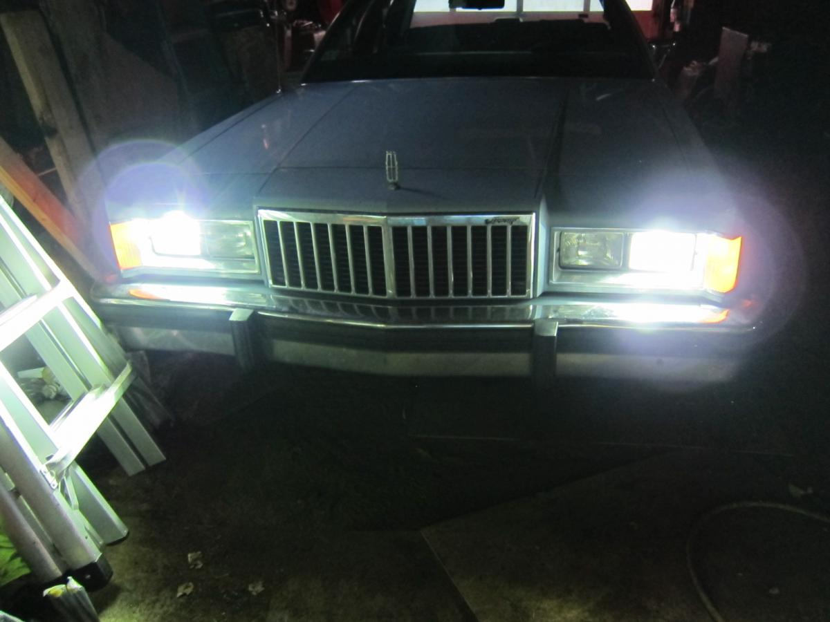 Marquis, headlights, HID install - AFTER.JPG