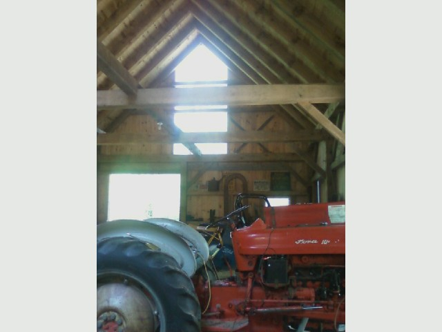 '61 Ford 631 tractor, in barn.jpg