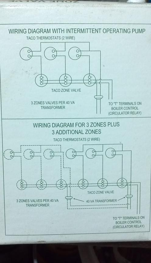 wiring a two wire zone valve