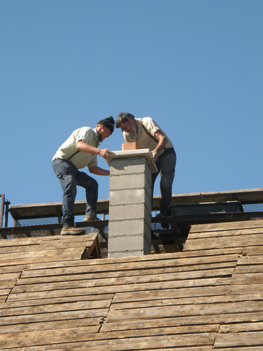 Completion of Chimney build.JPG